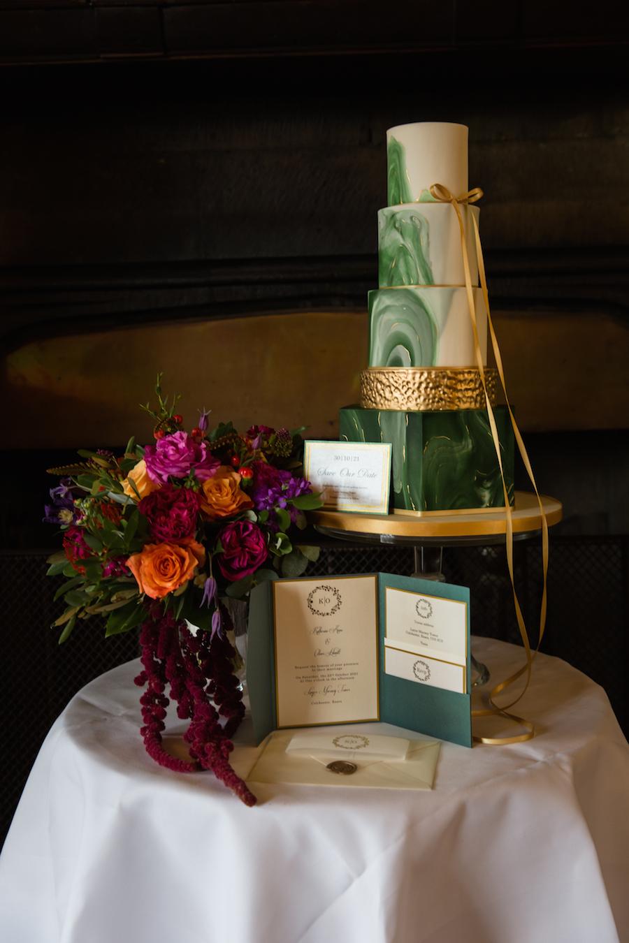 Jewel toned autumn wedding vibes from Layer Marney, image credit Ayshea Goldberg Photography (12)