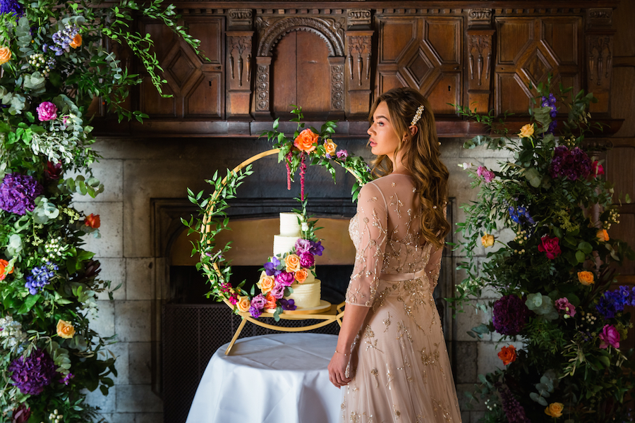 Jewel toned autumn wedding vibes from Layer Marney, image credit Ayshea Goldberg Photography (21)