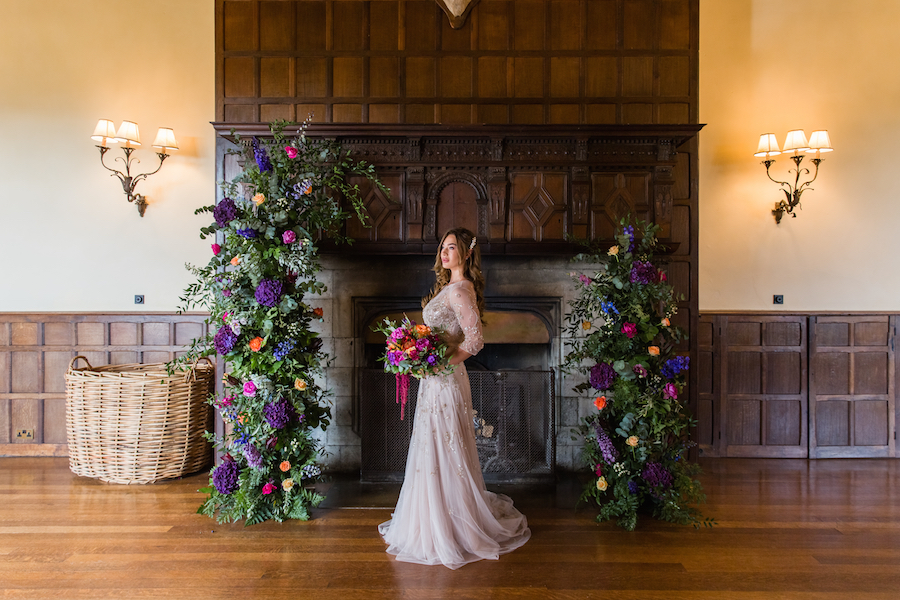 Jewel toned autumn wedding vibes from Layer Marney, image credit Ayshea Goldberg Photography (27)