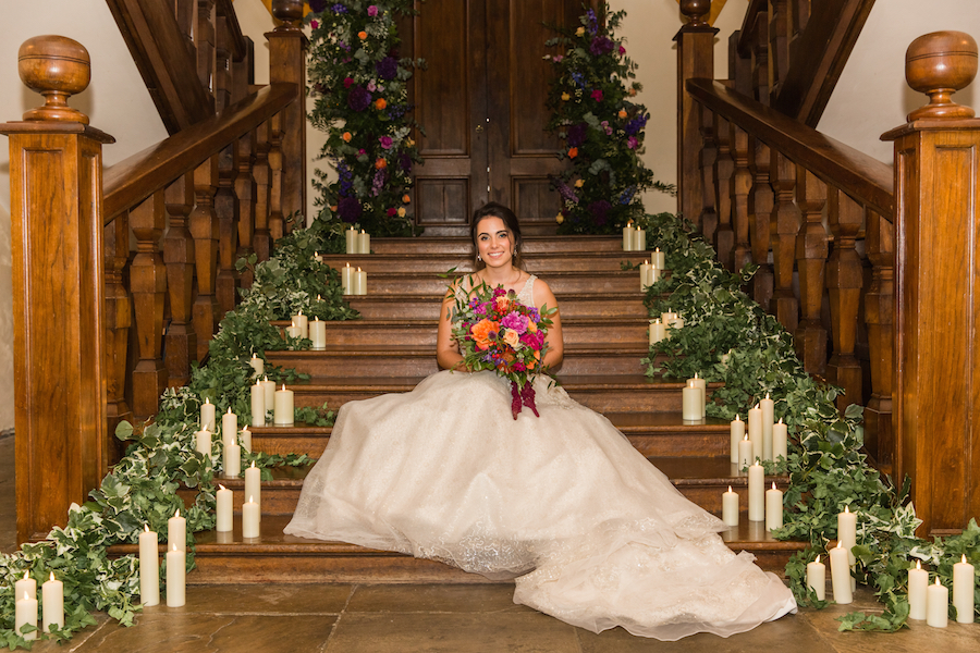 Jewel toned autumn wedding vibes from Layer Marney, image credit Ayshea Goldberg Photography (38)