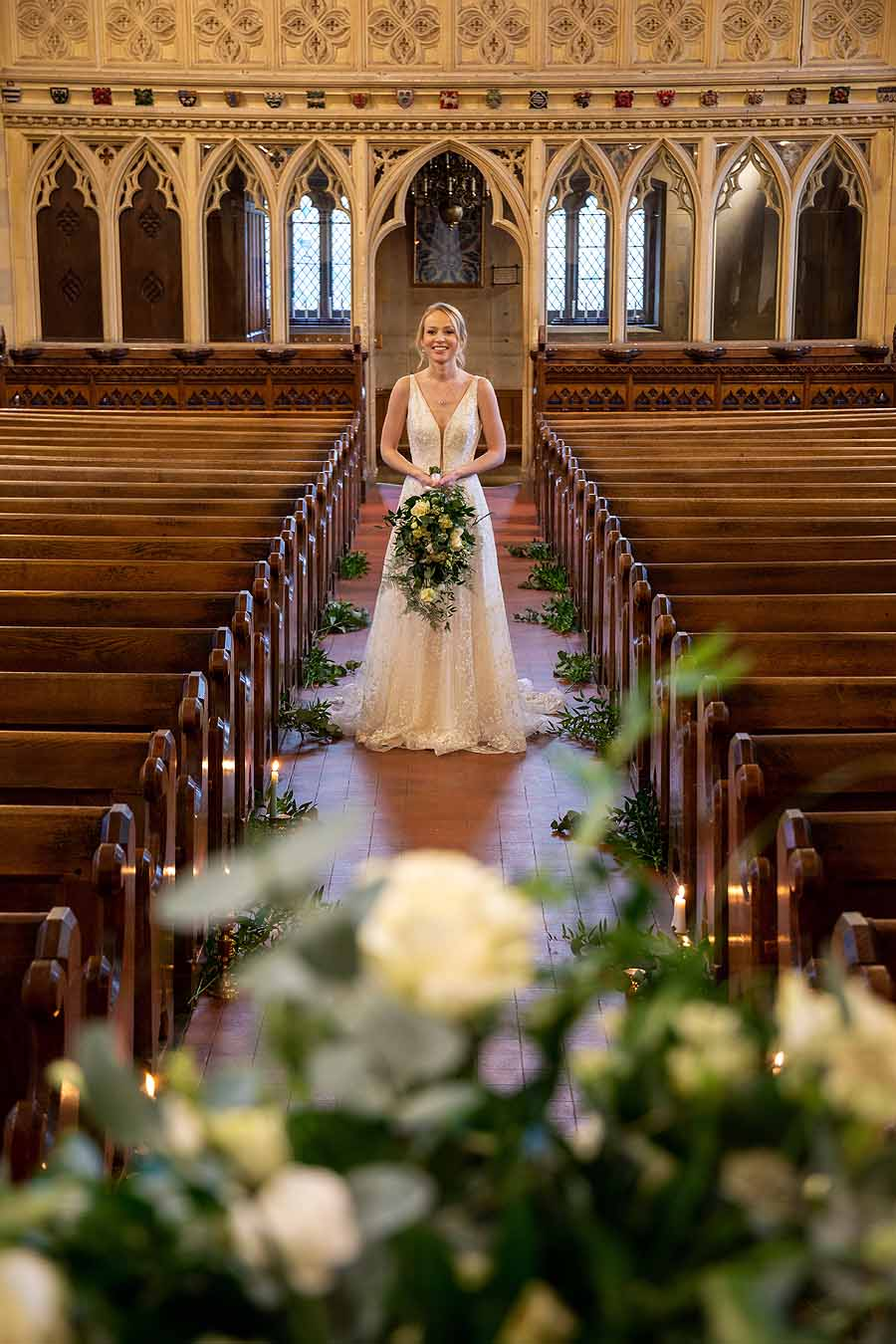 Elegant and timeless wedding styling at Bradfield College, with Lorna Richerby Photography (28)