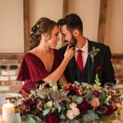 Autumnal burgundy wedding style inspiration with Becky Harley Photography