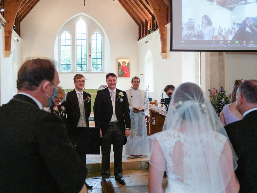 Michaela and Rupert's Dorset church wedding, image credit Dom Brenton Photography (10)