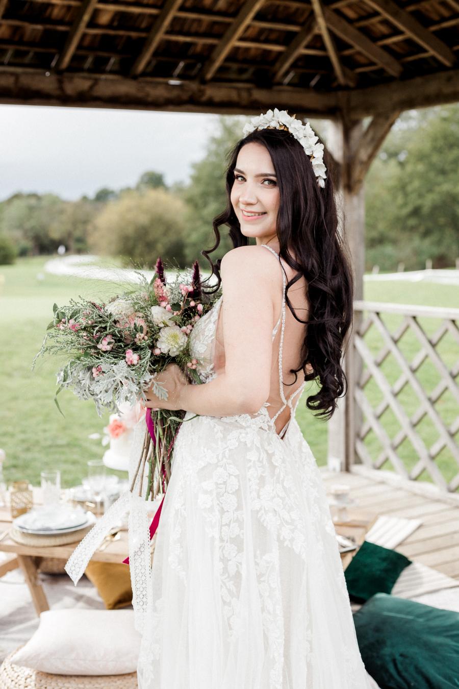 Hertfordshire Boho Themed Styled Wedding Shoot, photographer credit Absolute Photo UK (22)