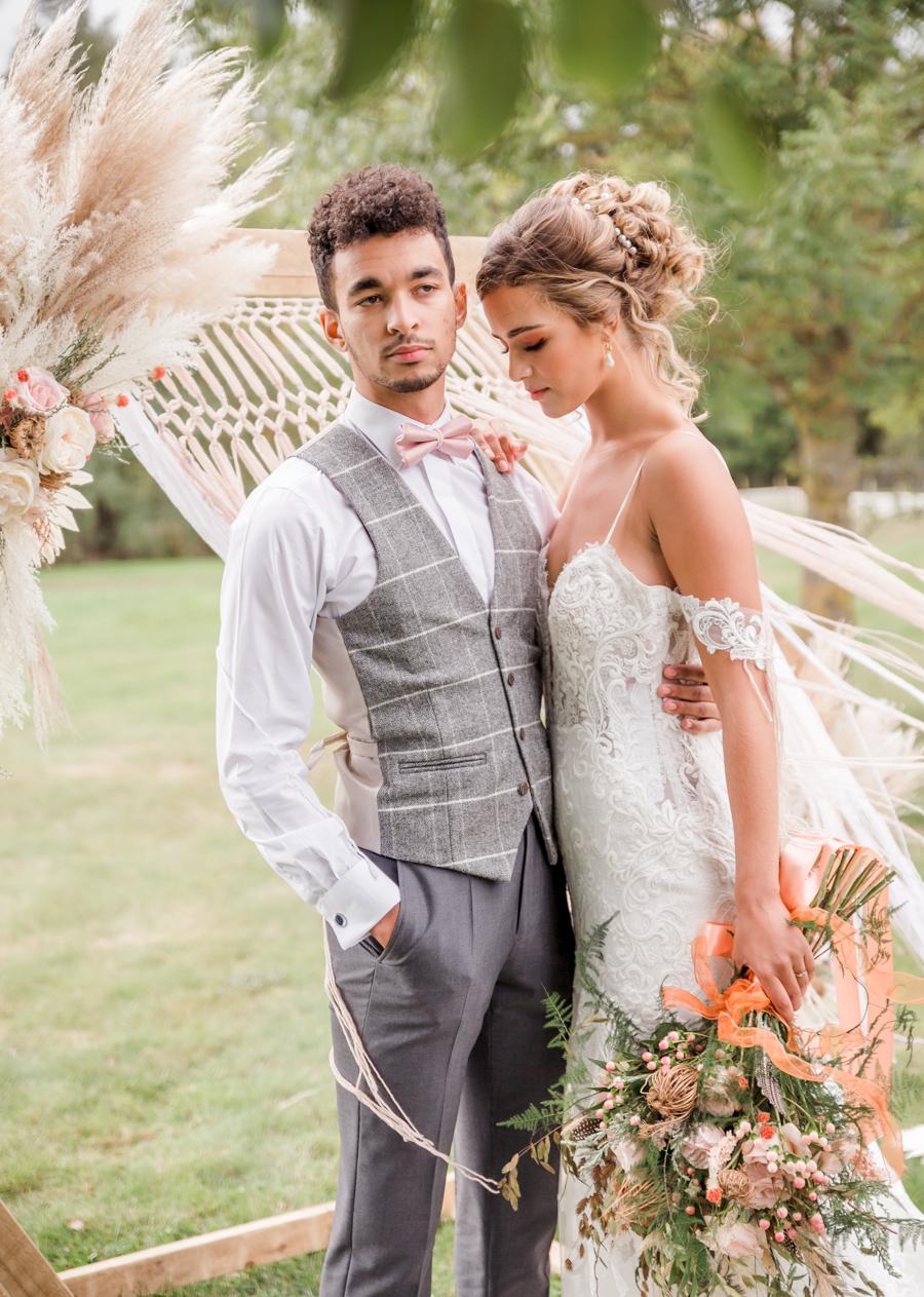 Hertfordshire Boho Themed Styled Wedding Shoot, photographer credit Absolute Photo UK (27)