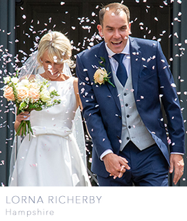 Hampshire wedding photographer Lorna Richerby Photography