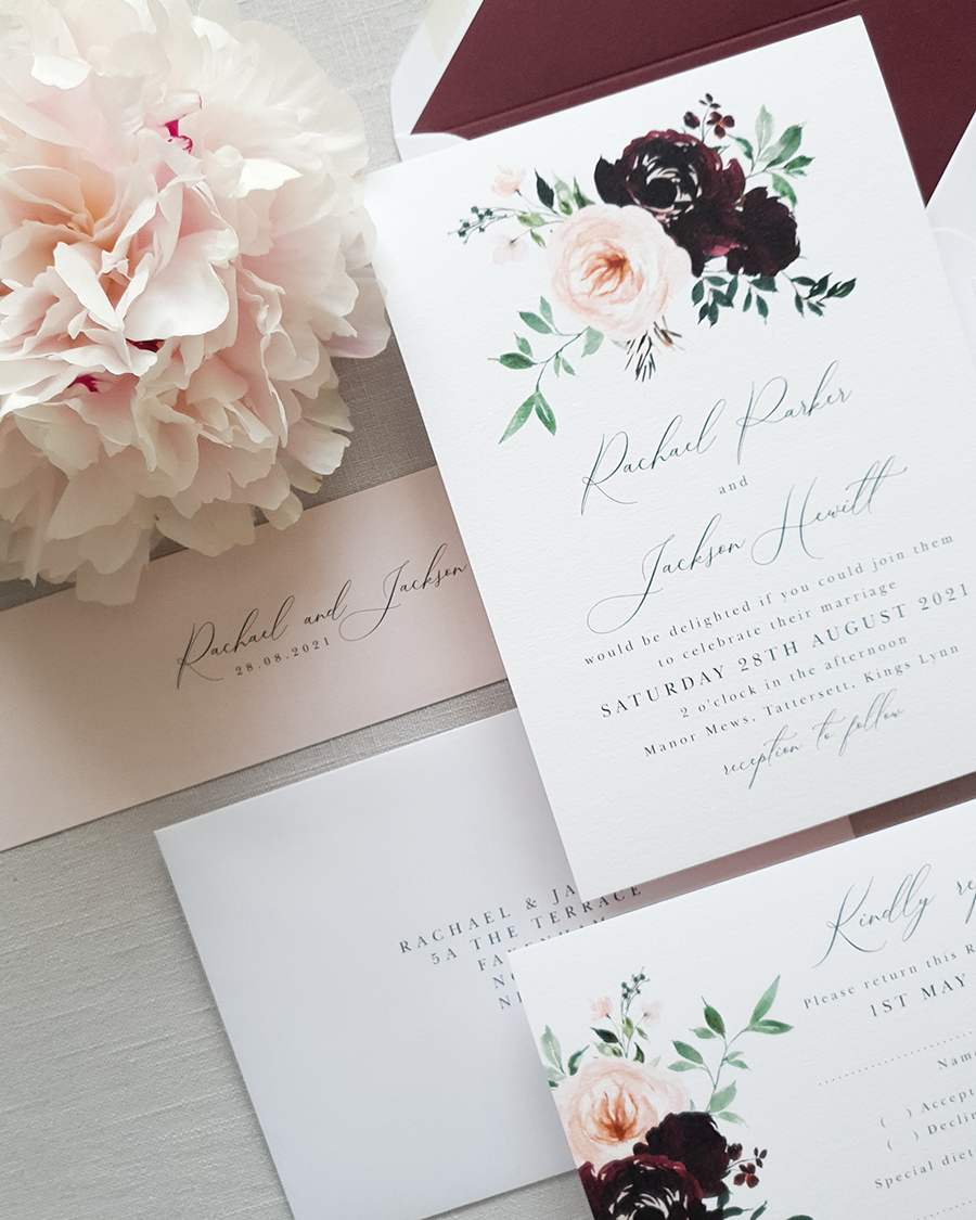 Silk and Ink wedding stationery