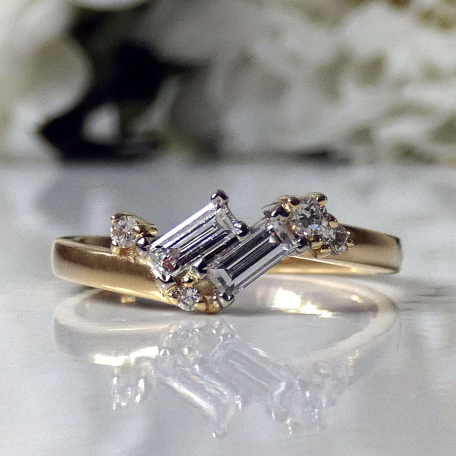 Heulwen Lewis Bespoke Louise Fitted Wedding Ring, captured by Sarah Heulwen Lewis