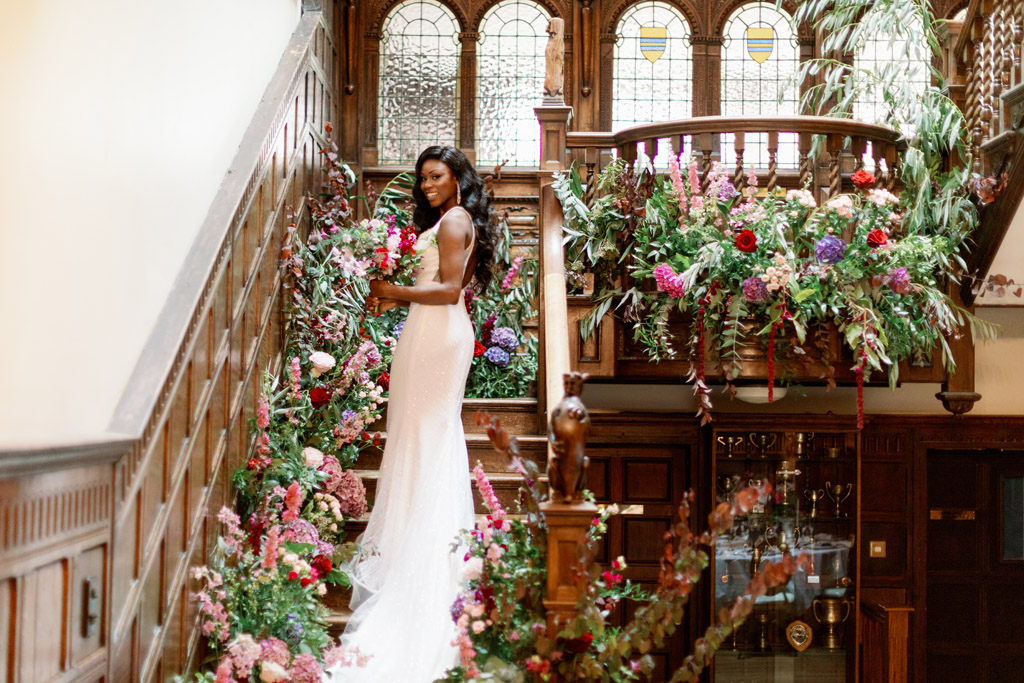 Forever Yours, a fabulously floral bridal shoot in Surrey with Tes Moments and Camilla J Hards Photography (16)