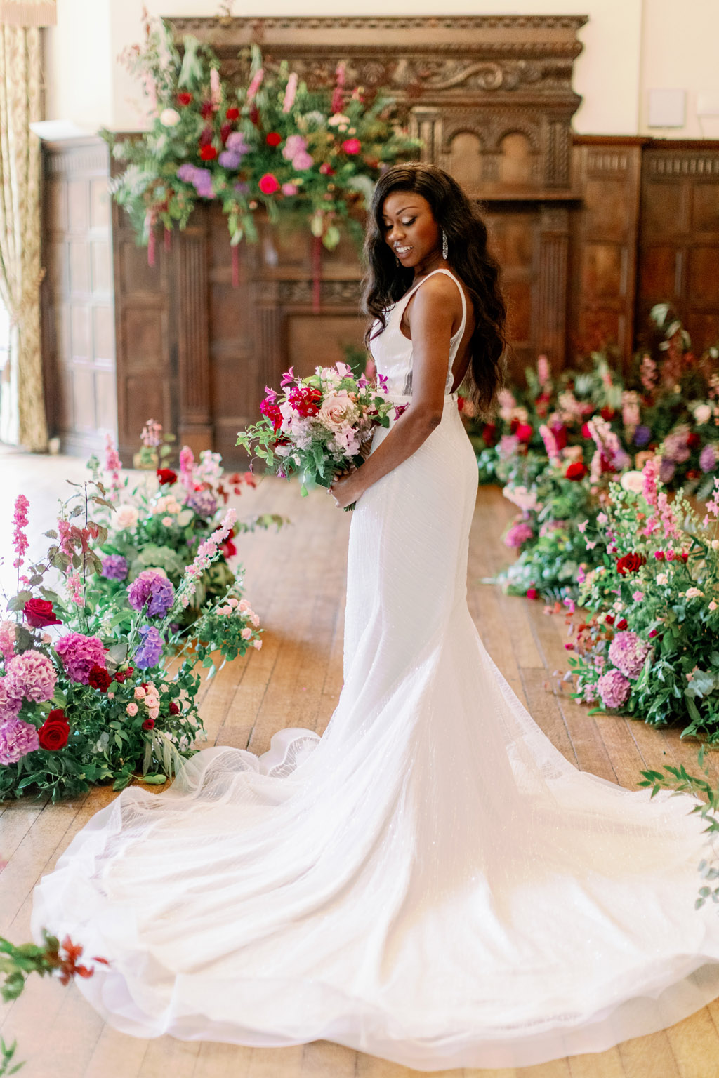 Forever Yours, a fabulously floral bridal shoot in Surrey with Tes Moments and Camilla J Hards Photography (40)