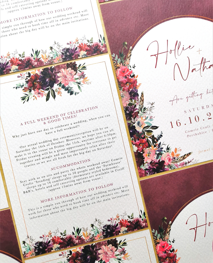 wedding stationery by Hollie Bruce Designs