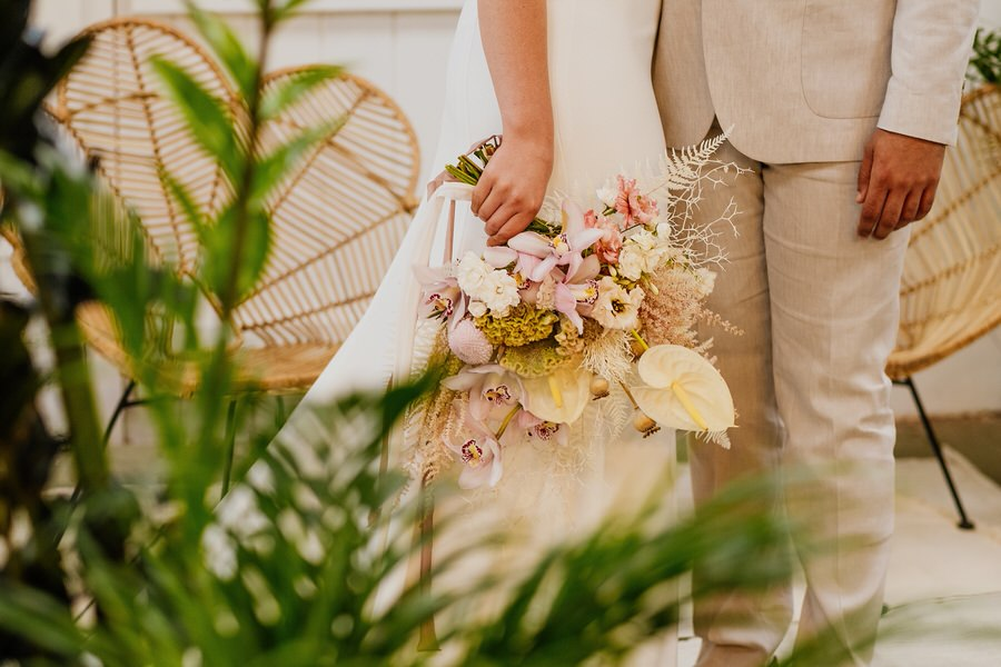 Free spirited modern jungle wedding inspiration at White Syke Fields, image credit Jenna Kathleen Photography (9)
