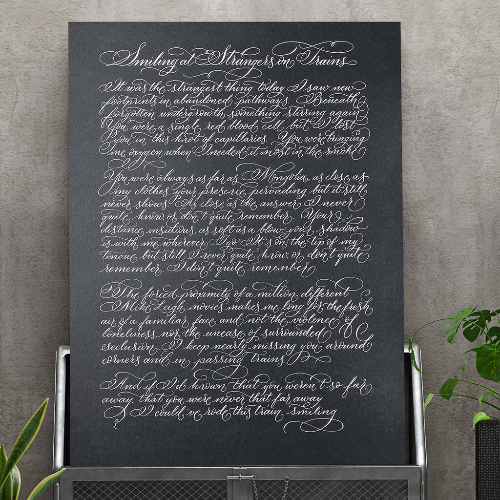 Song lyrics unique gift idea