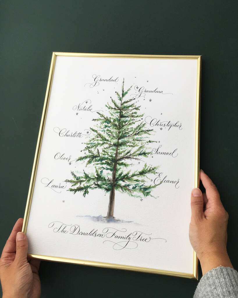 Christmas family tree personalised