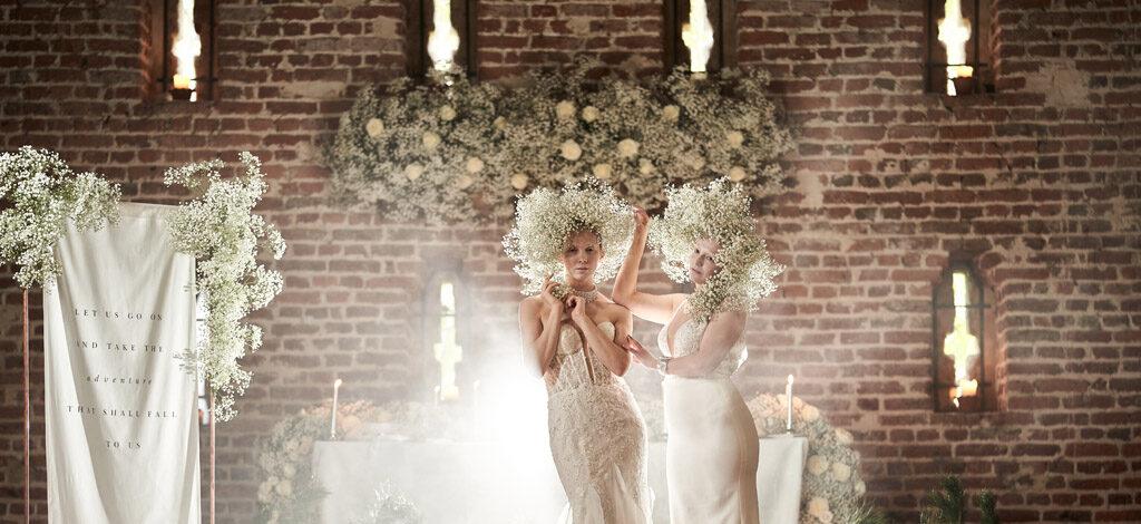 Highly stylised Narnia wedding inspiration, photographer credit Tim Stephenson