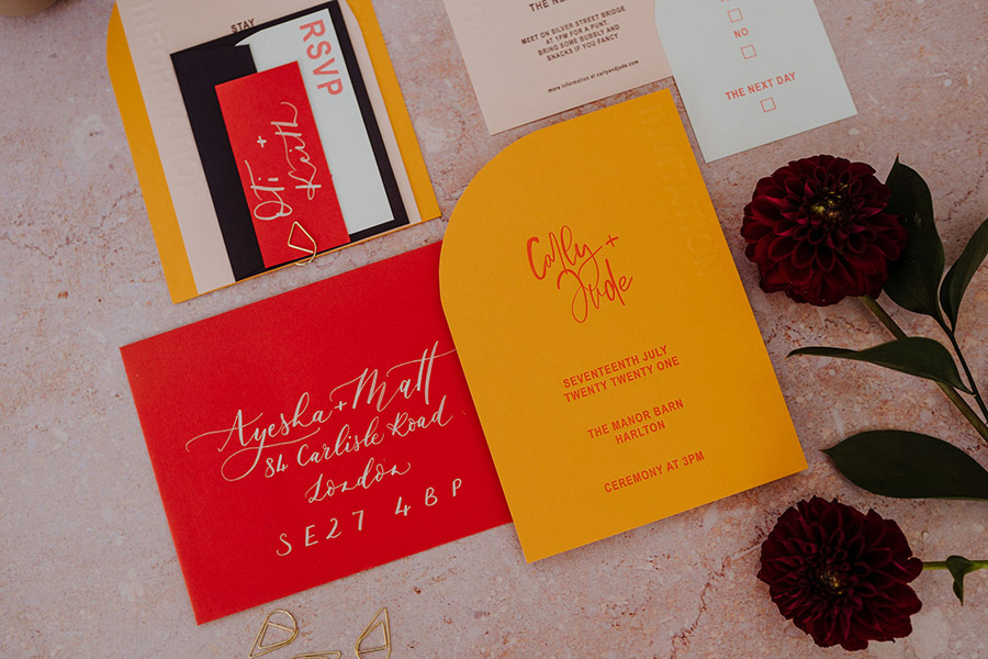 Ink and Paper bespoke letterpress and calligraphy