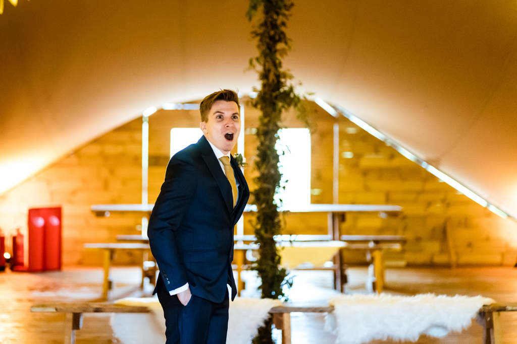 Sophie and Christopher's joyful, festive 2020 wedding at Jimmy's Farm, with Him & Her Wedding Photography (7)
