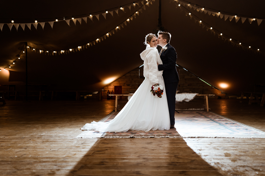 Sophie and Christopher's joyful, festive 2020 wedding at Jimmy's Farm, with Him & Her Wedding Photography (13)