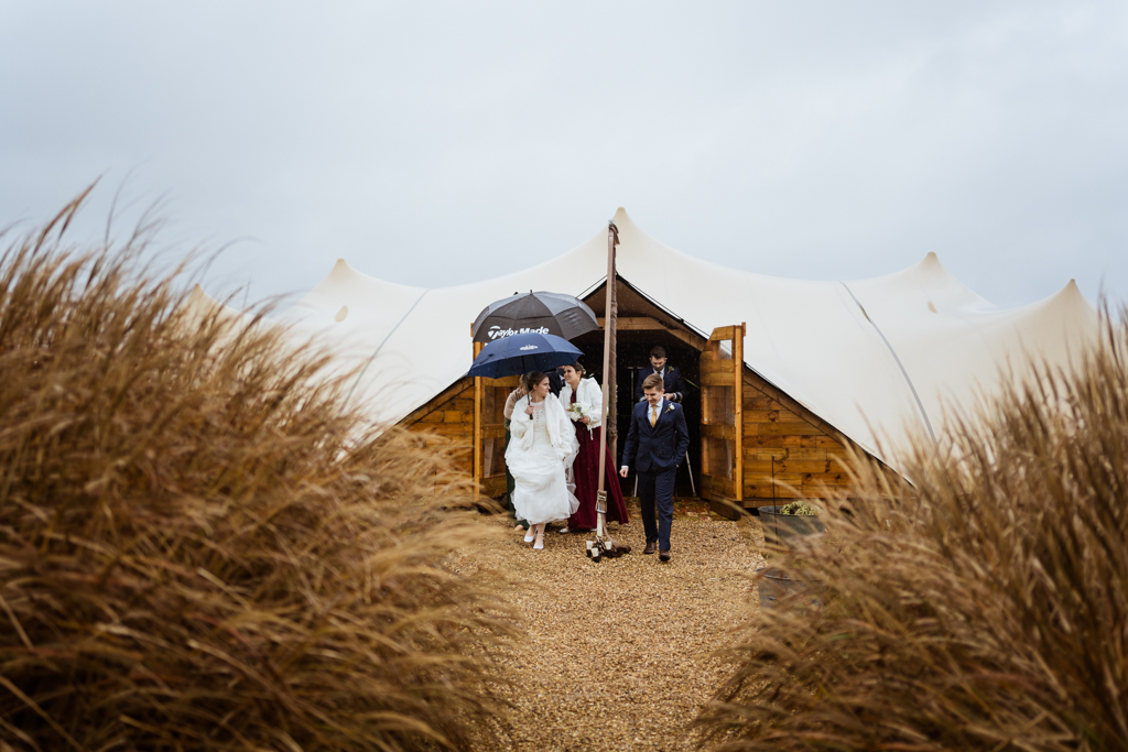 Sophie and Christopher's joyful, festive 2020 wedding at Jimmy's Farm, with Him & Her Wedding Photography (14)