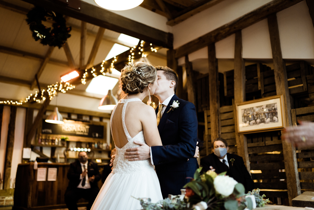 Sophie and Christopher's joyful, festive 2020 wedding at Jimmy's Farm, with Him & Her Wedding Photography (28)