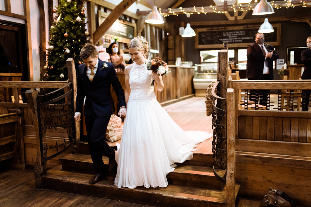 Sophie and Christopher's joyful, festive 2020 wedding at Jimmy's Farm, with Him & Her Wedding Photography (29)