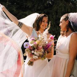 Rustic Rainbow – a joyful styled elopement in Kent