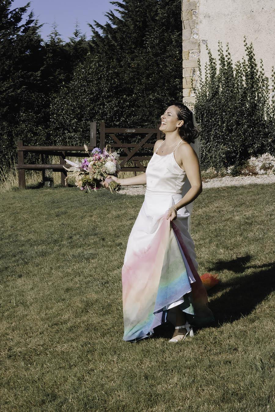 Rustic Rainbow - a joyful styled elopement in Kent (31)