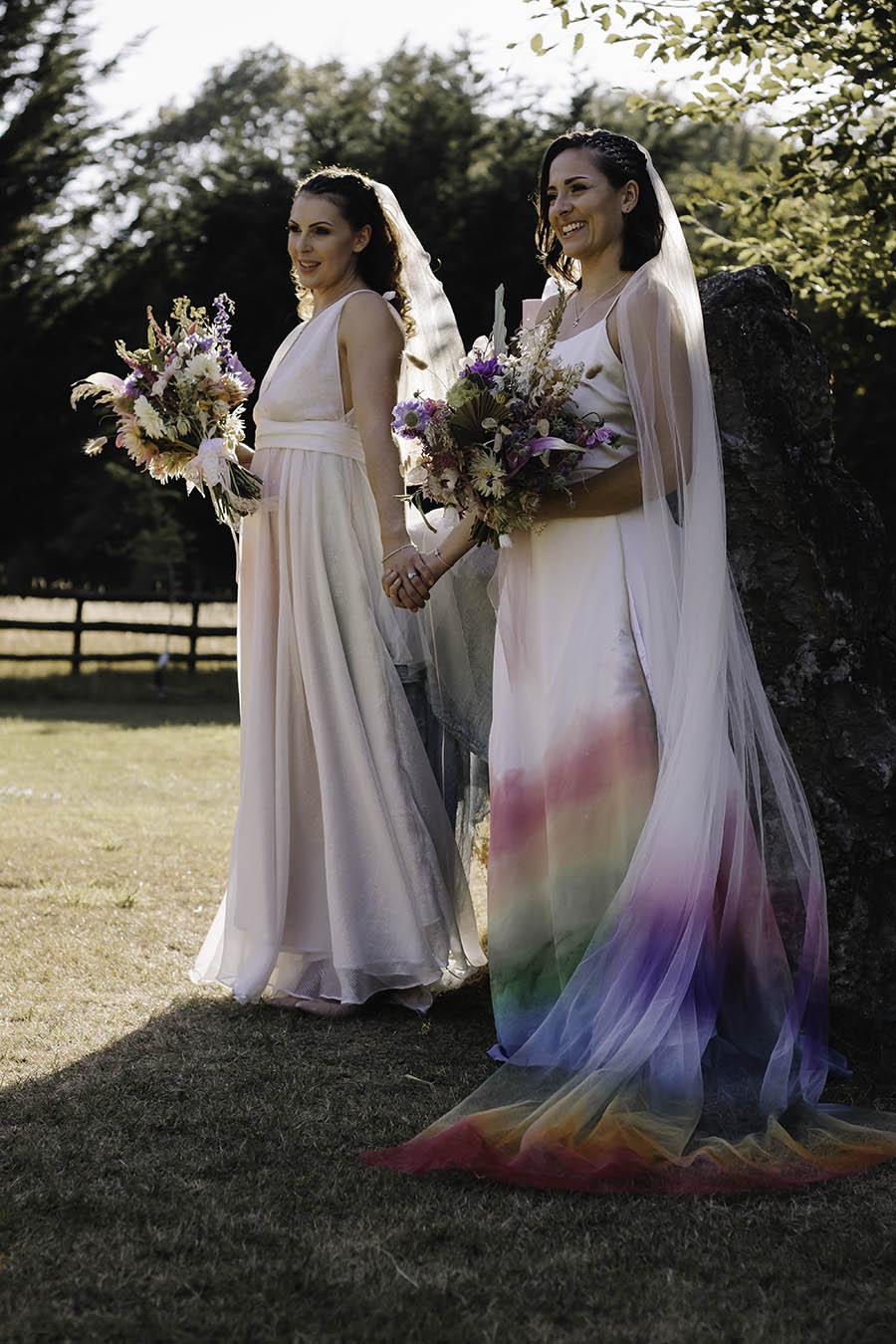 Rustic Rainbow - a joyful styled elopement in Kent (32)
