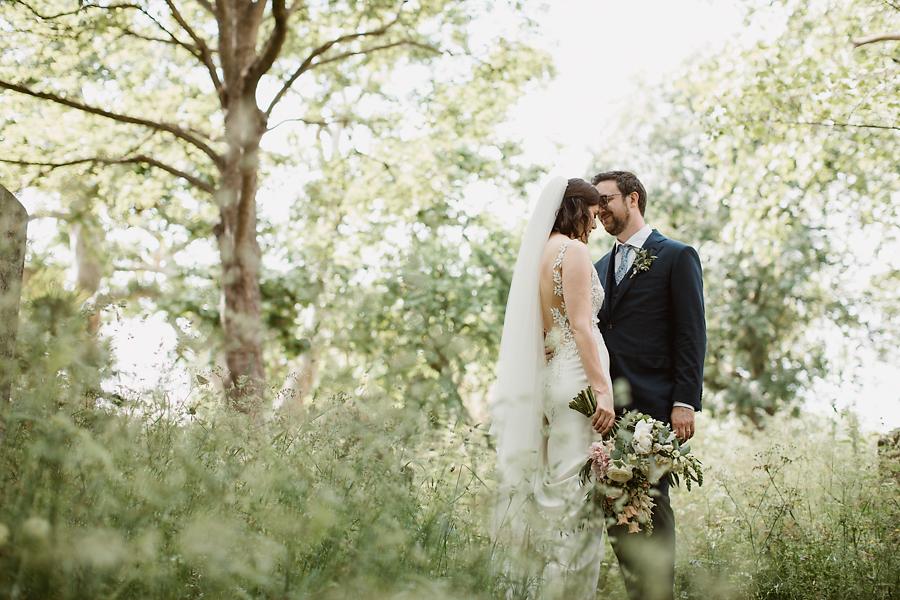 Beautiful couple portraits at Stoke Newington wedding, captured by Luke Hayden Photography