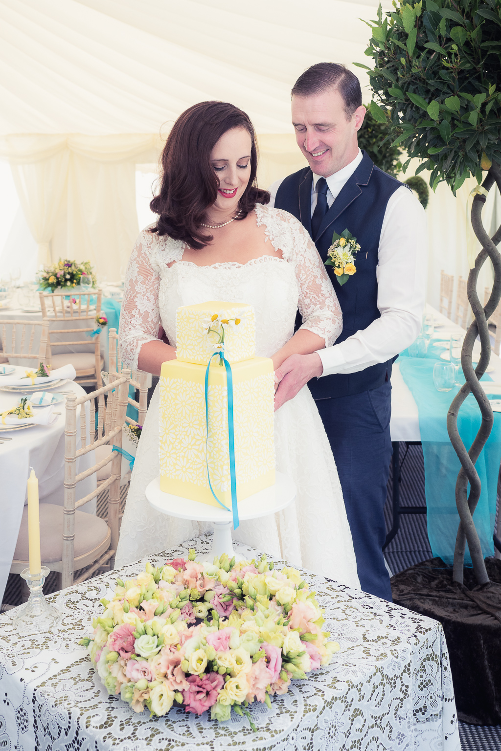 Traditional vintage styled wedding photoshoot at The Orangery Suite, photographer credit Dom Brenton Photography (46)