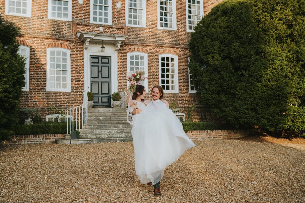 Emi and Jack's real wedding at Eggington House, Luton Captured by Grace Elizabeth Photography