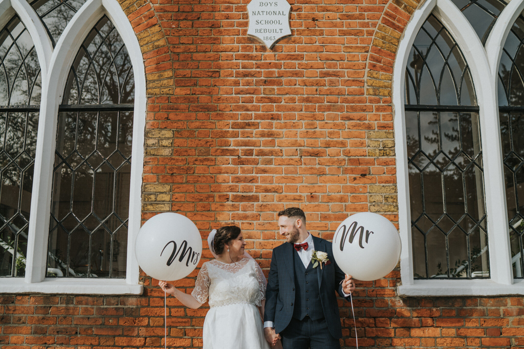 Laurel and Lewis' real wedding at The Old Parish Rooms, Rayleigh, Essex Captured by Grace Elizabeth Photography