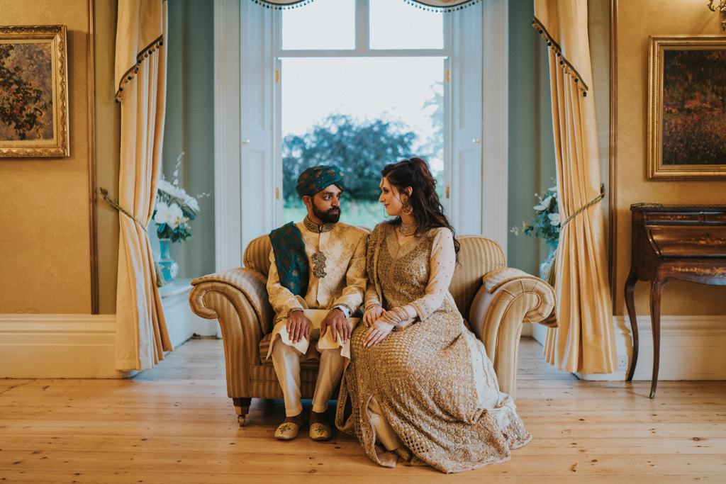 Lizzie and Faz's real wedding at Fennes, Essex Captured by Grace Elizabeth Photography