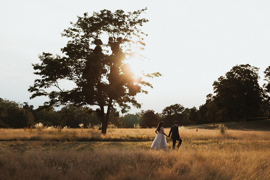 Sunset photo at Braxted Park wedding, captured by Luke Hayden Photography