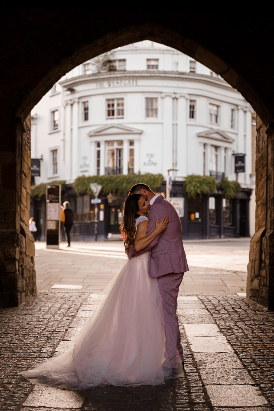 A loved-up Winchester city elopement - with adorable dogs! Photographer credit Katherine and her Camera (49)