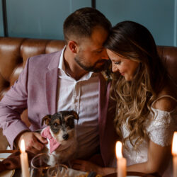 A loved-up Winchester city elopement – with adorable dogs!