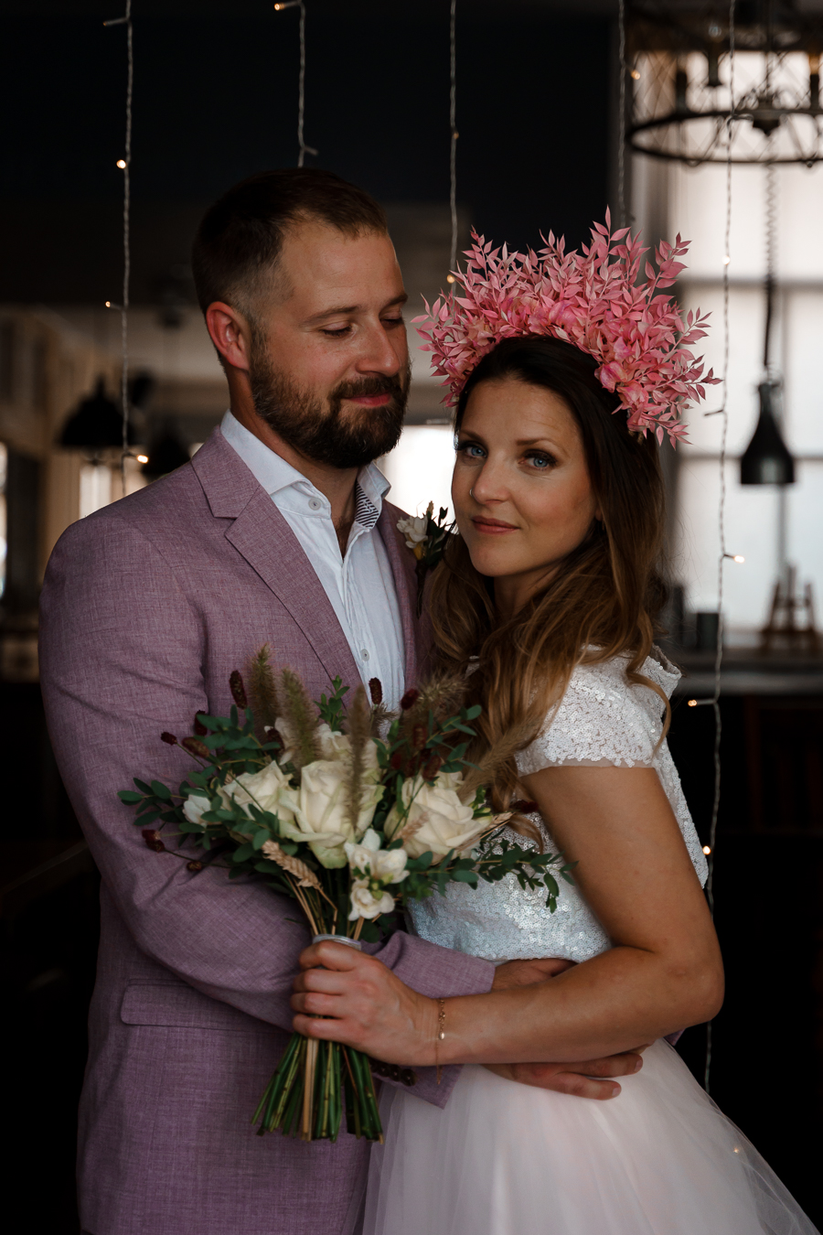 A loved-up Winchester city elopement - with adorable dogs! Photographer credit Katherine and her Camera (21)