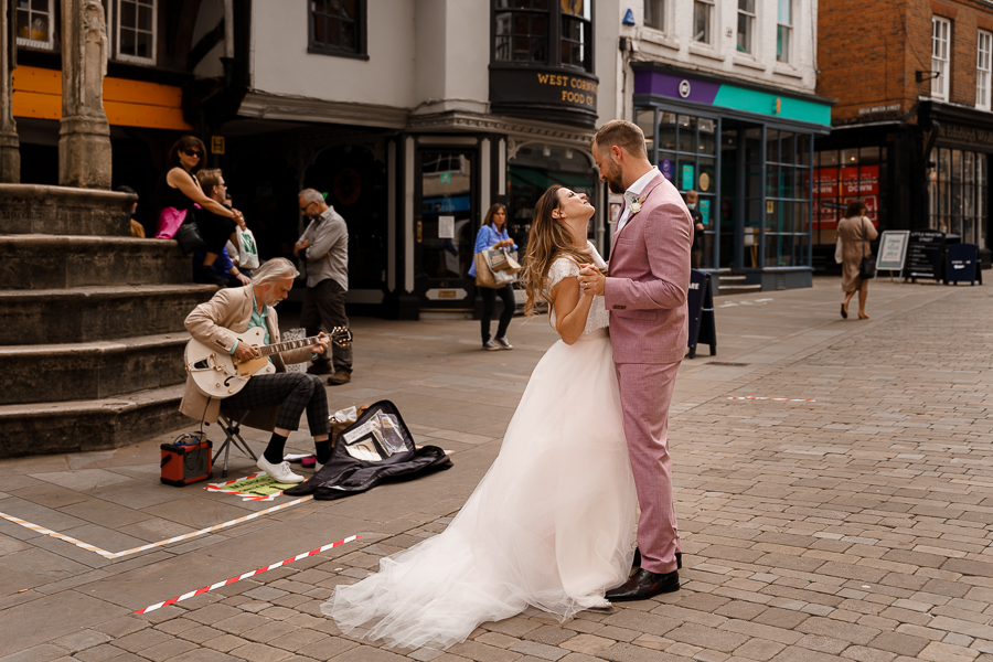 A loved-up Winchester city elopement - with adorable dogs! Photographer credit Katherine and her Camera (27)