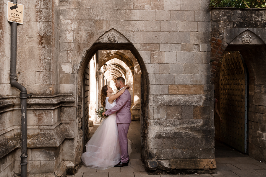A loved-up Winchester city elopement - with adorable dogs! Photographer credit Katherine and her Camera (39)