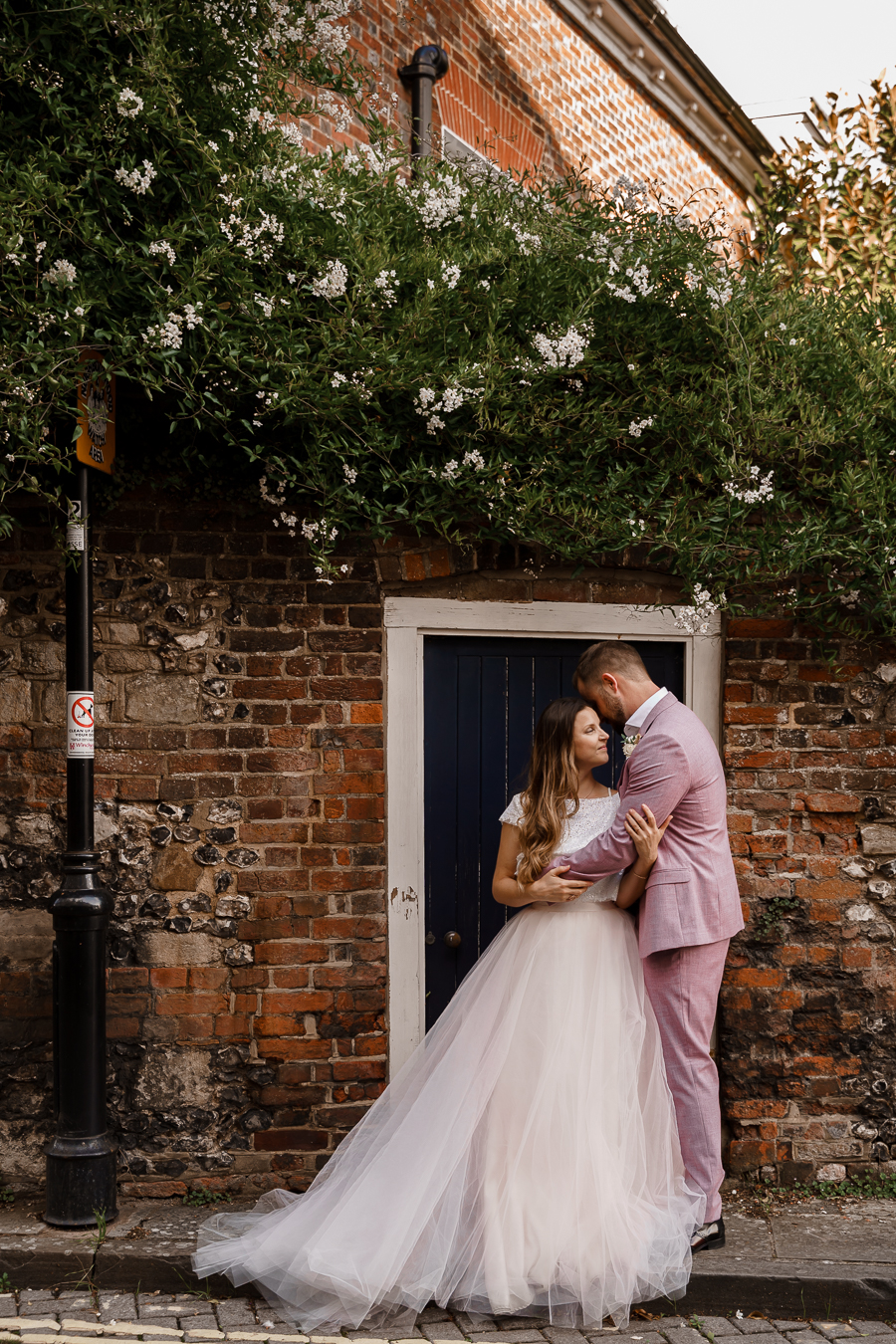 A loved-up Winchester city elopement - with adorable dogs! Photographer credit Katherine and her Camera (46)