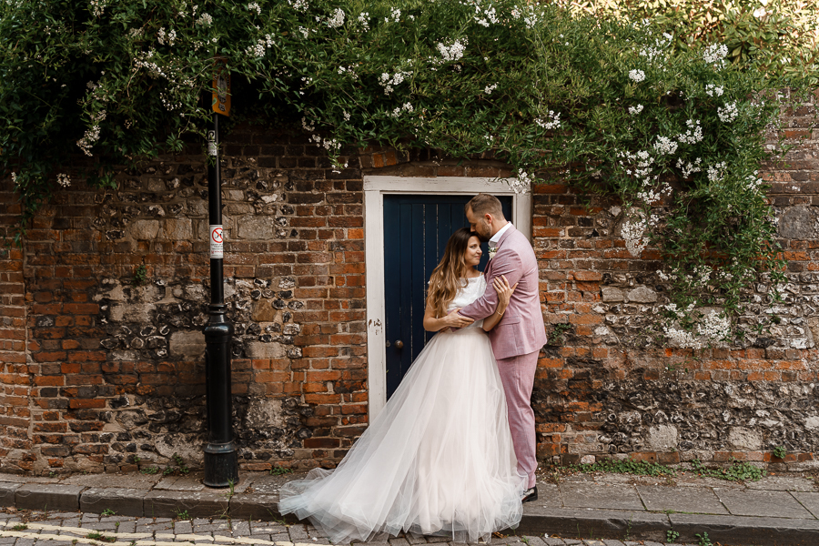 A loved-up Winchester city elopement - with adorable dogs! Photographer credit Katherine and her Camera (47)