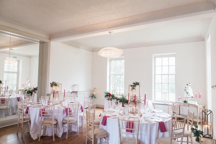 romantic red winter wedding inspiration, image credit Amanda Karen Photography