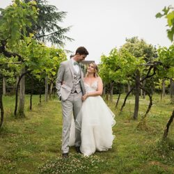 Jo and Tom's olive & eucalyptus leaf Old Luxters Barn wedding with Linus Moran Photography