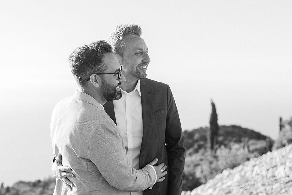Lefkada Greece same sex vow renewal, image credit Maxeen Kim Photography