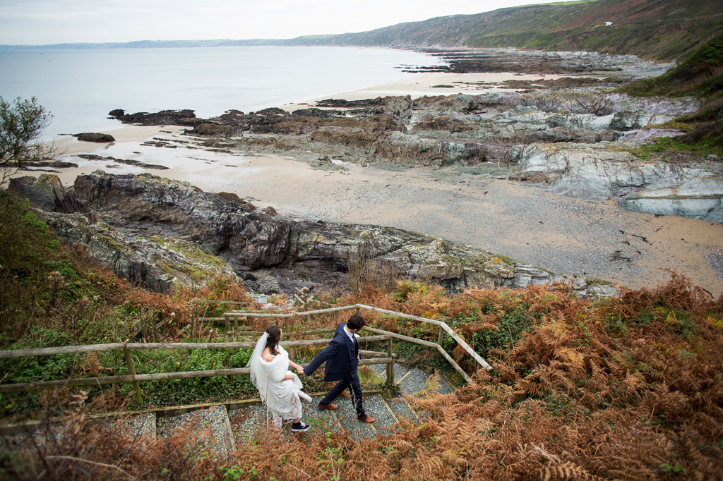 Polhawn fort wedding photography by Martin Dabek