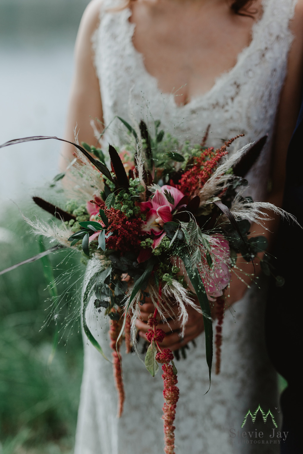 Trailing wedding bouquets for 2021 and 2022 by Fantail Designer Florist, image by Stevie Jay Photography