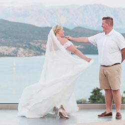 Shelby & Daniel's amazing Lefkada destination wedding, with Maxeen Kim Photography