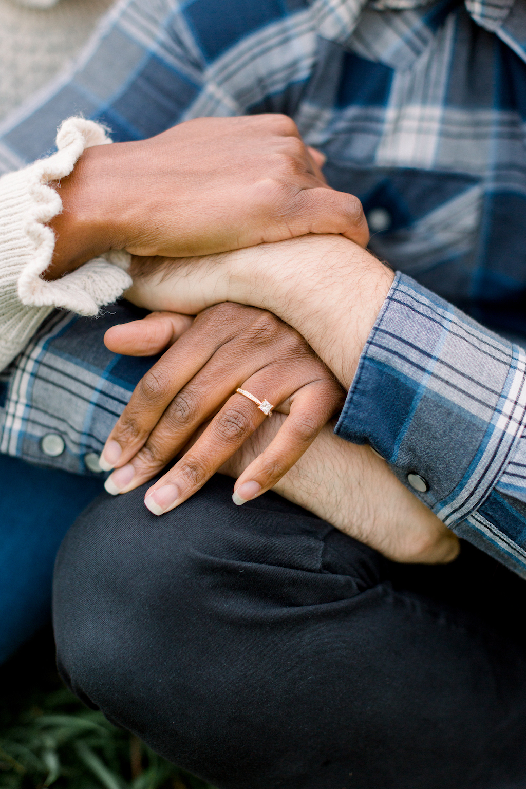 Close up from Romantic couples engagement shoot, Hannah K Photography