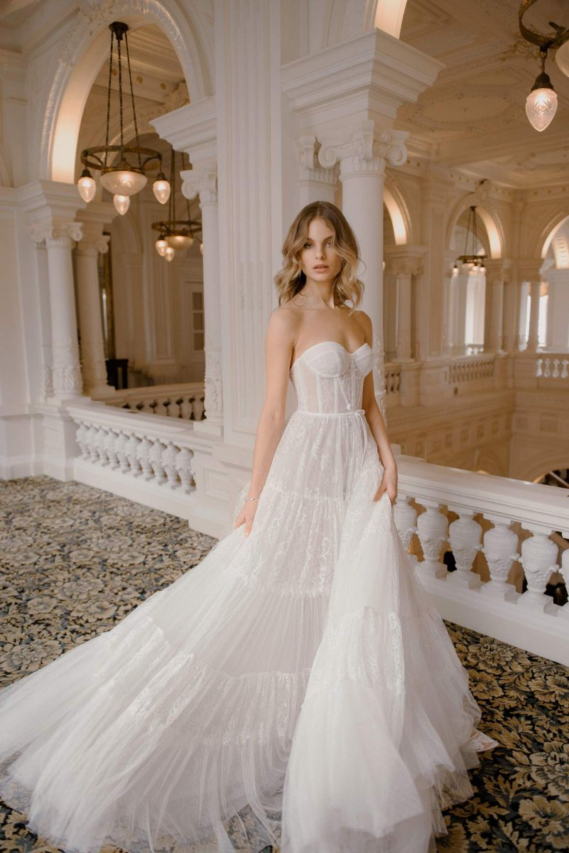Stella bridal dress by Karin Rom with layers of boho style