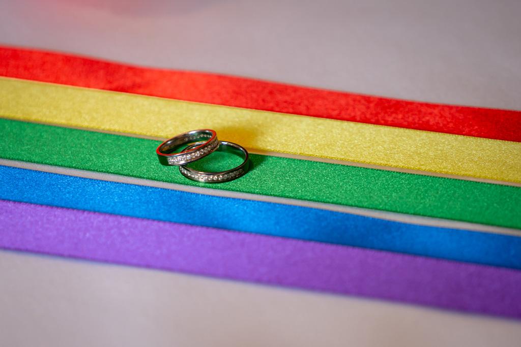 Rainbow wedding of Jennie and Verity captured by Birmingham wedding photographer Artisan X Photography
